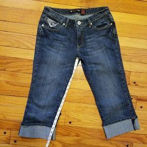 Pants - Cute blue Capris